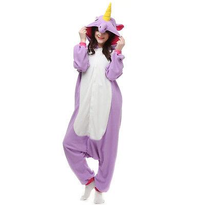 Unisex Adults Unicorn Pajamas Costumes Kigurumi Animal Sleepwear one piece