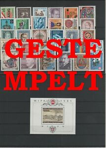 Autriche-Autriche-Vintage-Yearset-1981-Timbres-Used-Complet-Complet