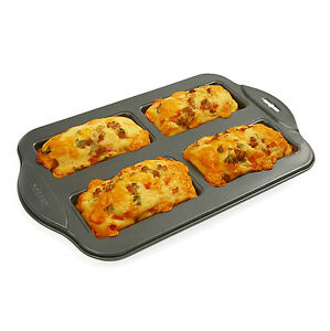 Norpro 3946 nonstick mini loaf pan 4 count ebay for Norpro canape bread mold set