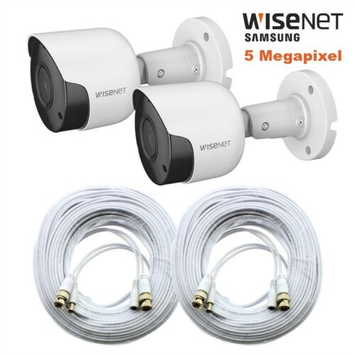 SDH-C84085 2 Pack Wisenet SDC-89445BF 5MP Camera w// 100/' Cable SDH-C85100BF 45