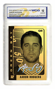 AARON-RODGERS-Green-Bay-Packers-23K-GOLD-CARD-Hologram-Signature-GEM-MINT-10