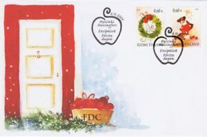 Finland Christmas Decorations.Details About Little Girl Christmas Decor Finland Mint Fdc 2009