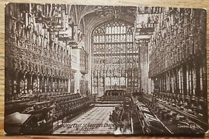 Choir East, St George's Capel,  Windsor postcard. Valentine's series