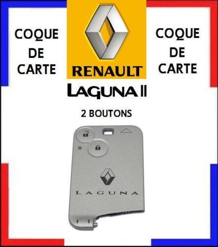 COQUE de CARTE modèle avec boutons RENAULT LAGUNA 2 livré en  48H////