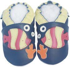 Soft Sole Leather Baby Shoes Infant Toddler Prewalk Gift Boy GeckoBlue 0-6month