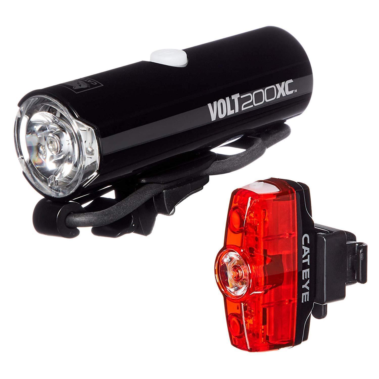 Cateye Volt 200XC Rapid Mini Combo (Hl-El060RC Tl-LD635R) luces de bicicleta-Nuevo