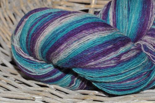 100% Schurwolle Tücherwolle Schafwolle Lace Strickgarn handgefärbt *168* LL 700m