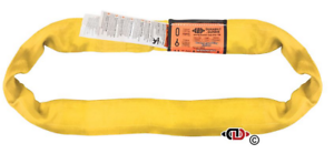 Endless Round Lifting Sling Heavy Duty Polyester Yellow 12/'