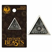 Harry Potter Macusa Triangle Eye Pewter Lapel Pin Fantastic Beasts Charm