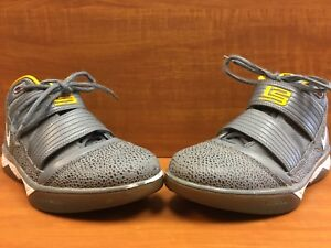 low priced ca682 852d0 Details about Nike Lebron James Zoom Soldier 3 III Cool Grey/Del Sol  354815-012 Men's Size 9