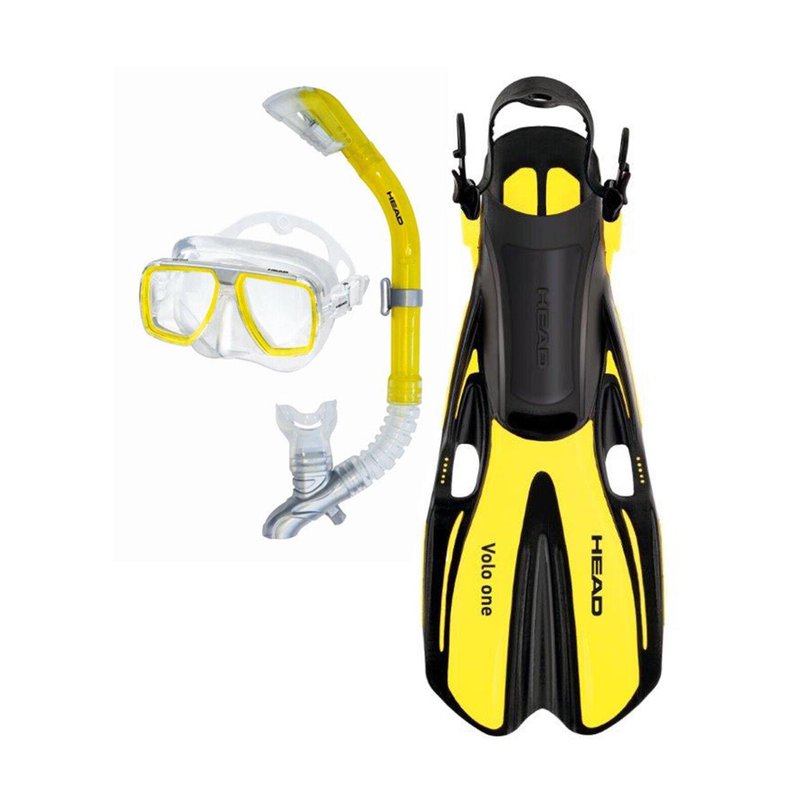 Head Tarpon2 Barracuda Volo Mask Snorkel Fins Set Scuba Diving  Snorkeling Yellow  fast shipping worldwide