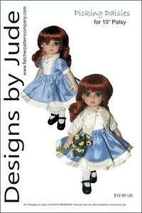 "Picking Daisies Doll Clothes Sewing Pattern for 10"" Patsy & Ann Estelle Tonner"