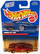 HOT WHEELS 2000  FORD GT - 40 #139 RED W/ 5 SP WHEELS