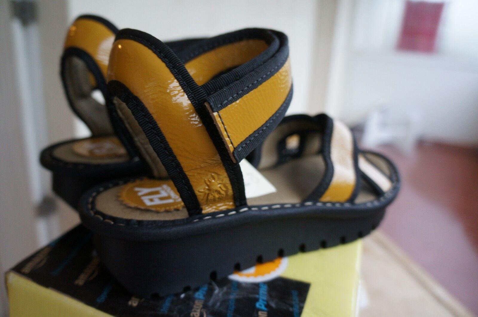 Fly London Kut, Kut, Kut, Sandales pour femme yellow Yellow (Mustard (Black)) 39 EU - 9d8641