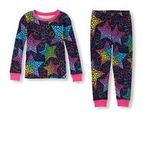 Tcp Girls 2pc Stars Hearts Navy Blue L/s Cotton Pajamas Set Jammies 4 5 6 8 12