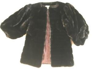 Fabulous Pauline Trigere Faux Fur Vintage Jacket Coat From 80's Pre Owned 4-6 US