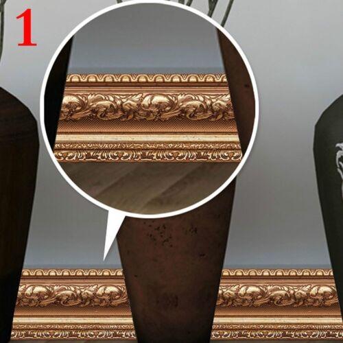 3D Self Adhesive Wall Skirting Border Sticker Vinyl Wallpaper Waterproof Decor