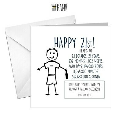 funny card for him or her age related rude birthday card di*k card c 21