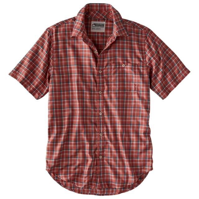Indigo Plaid L Mountain Khakis Men/'s Ace Indigo Short Sleeve Shirt