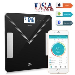 Bluetooth-Smart-Digital-Bathroom-Scale-LCD-BMI-Body-Fat-Weight-Scale-180kg-400lb