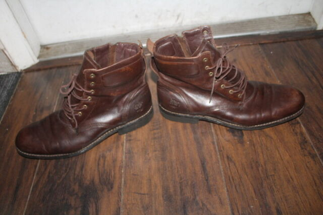 TIMBERLAND EARTHKEEPERS  MEN'S ZIPPER BROWN BOOTS SIZE  12 M