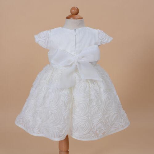 NEU Baby Taufe Partykleid mit Haube Pink Elfenbein 0 3 6 12 18 24 Monat