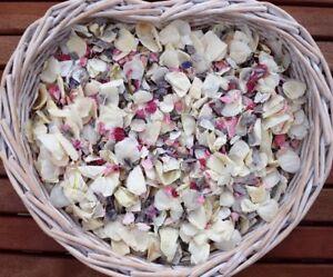 Natural-Biodegradable-Mariage-Confettis-naturel-gris-rose-ivoire-Flutter-Petales-1-L