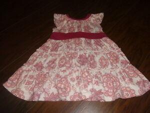 BOUTIQUE TEA COLLECTION 12-18 PINK FLORAL DRESS