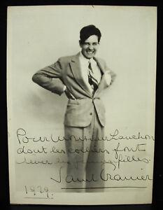 Photo Dédicacée Autographe Envoi De Paul Granier En 1929 Au Bijoutier Lauchon 100% De MatéRiaux De Haute Qualité