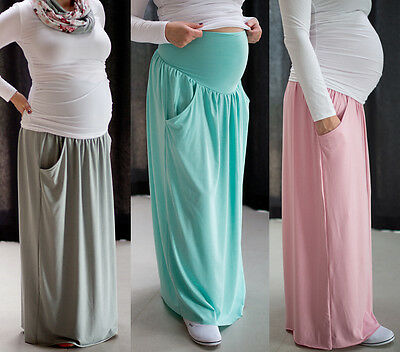 Maternity Casual Everyday Elegant Maxi Skirt Over Bump Size 8 10 12 14 Offensichtlicher Effekt