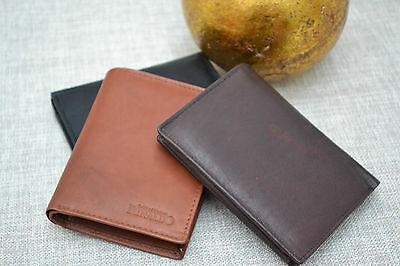 Geldbörse echt Leder Portemonnaie Geldbeutel  Hochformat Bifold L6