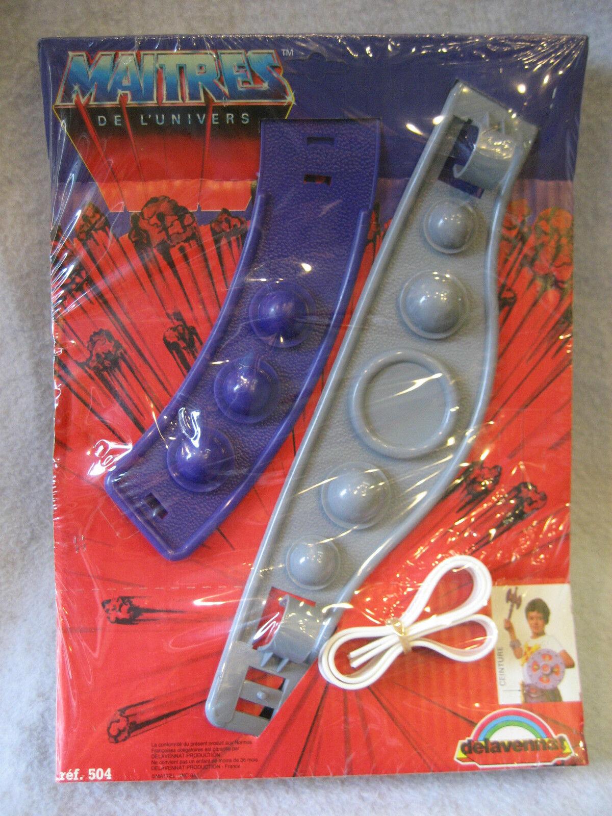 SUPER RARE vintage Masters of the Universe BELT set MOC delavennat France toy