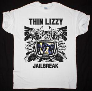 THIN LIZZY JAILBREAK PHIL LYNOTT GARY MOORE HARD ROCK NEW LIGHT GREY T-SHIRT