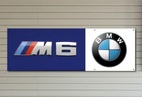 PVC logo banner for your workshop garage man cave BMW M6 BADGE Banner