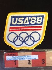 OLYMPIC GAMES PATCH ~ 1988 USA United States Of America ~ Souvenir 5NB2