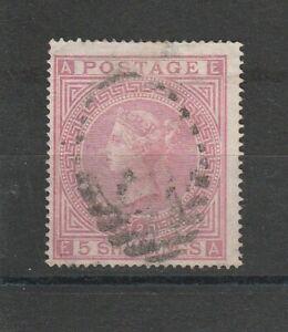 Gran-Bretagna-Inghilterra-MER-n-35-del-1867-timbrato-Regina-Vittoria-5-SH