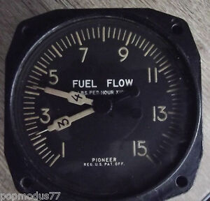 WW2-USAAF-Aircraft-Fuel-Flow-Indicator-1940-039-s-By-Pioneer-Aviation-Instruments