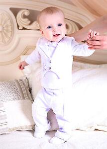54260379670d Baby Boy Suit Baptism Infant Outfit Christening Newborn 3PCS Suit ...