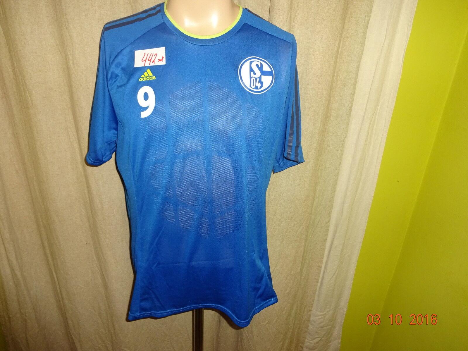 FC Schalke 04 Original Adidas Spieler Training Trikot 2013 2013 2013 14 + Nr.9 Gr.L 917972