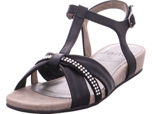 Jana Damen Da.-Sandalette Sandale Sandalette schwarz