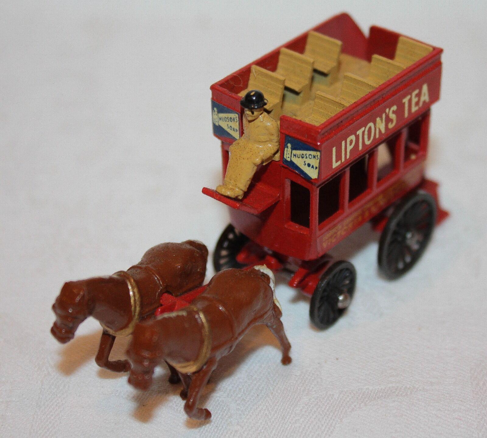 Vintage Matchbox Lesney Models of Yesteryear Y12-1 1899 London Horse Drawn Bus