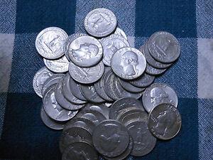 ROLL 90% SILVER WASHINGTON QUARTERS-$10 FACE VALUE - 40 COINS