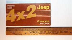 1986-JEEP-Comanche-4x2-Original-Owners-Manual-Good-Condition-US