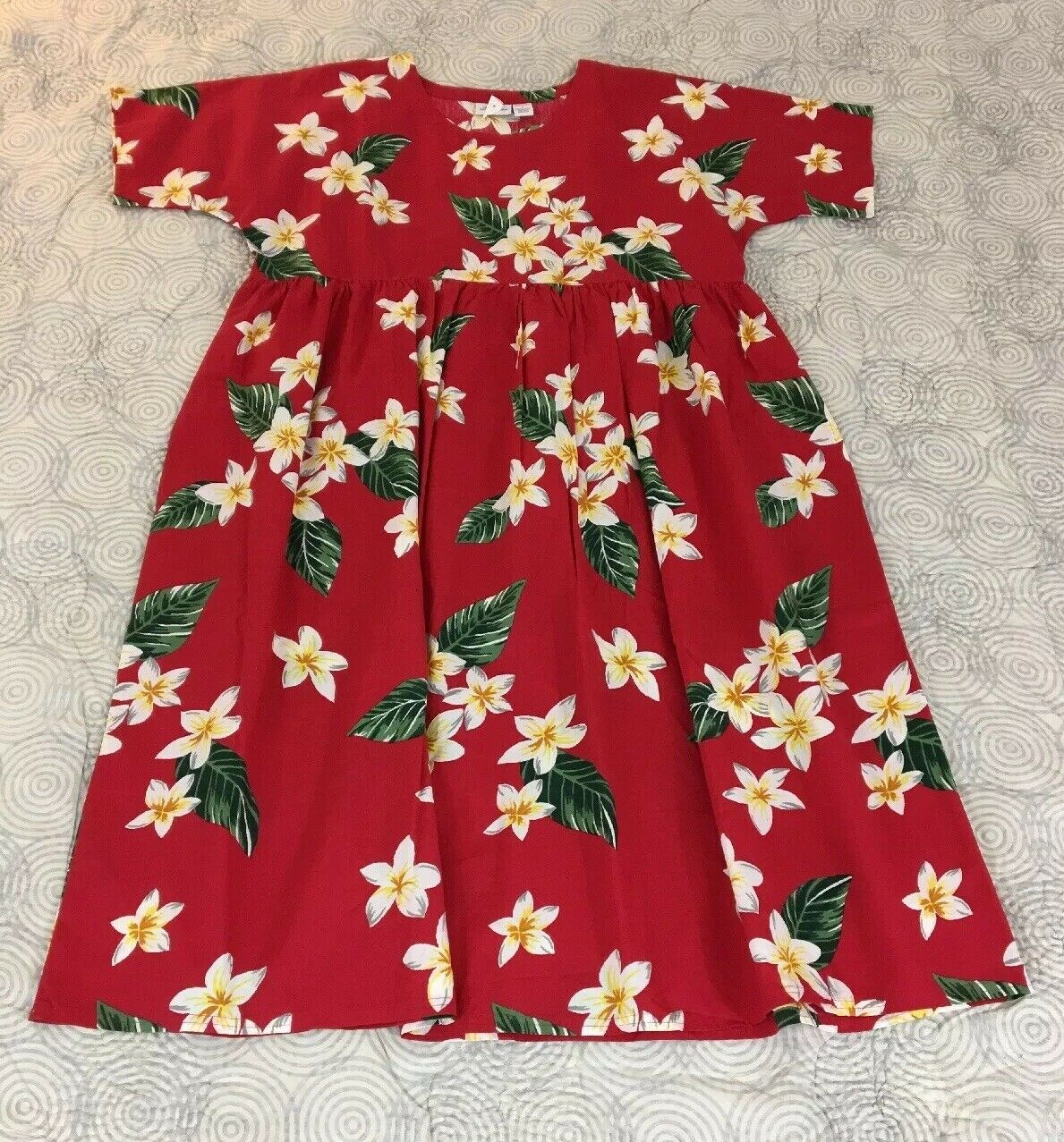 Vermont Country Store rot Floral India Print Vintage Style Cotton Dress Sz L NEW