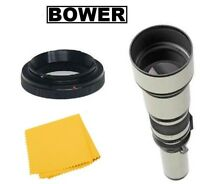 Bower 650-1300mm Telephoto Lens For Canon Eos 80d 70d T7i T6i T6s T6 T5i T5 Sl2