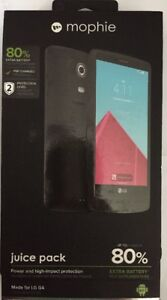 more photos a9dc5 0a4c2 Details about mophie juice pack Battery Case For LG G4 (3,450mAh) - Black