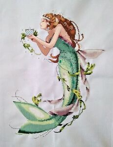 NEW-finished-completed-Cross-stitch-034-Mermaid-034-wall-home-decor-gift-C55