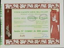 Spain Sparkling Wine Vinos Gasificados Blanxart San Sadurni de Noya 1916