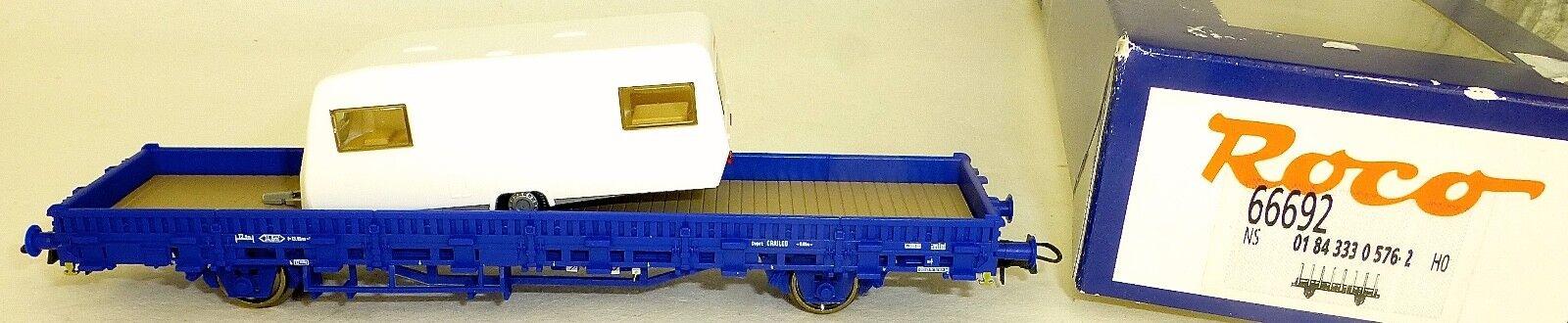 NS Carro a Stanti Railpro con Roulotte Epv Roco 66692 H0 1:87 Conf. Orig. Μ
