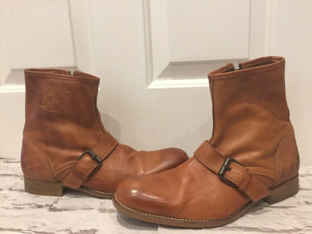 Quality H By Hudson Boots Gorgeous Tan Men's Boots  7.5EU41 Zip Fastening VGC